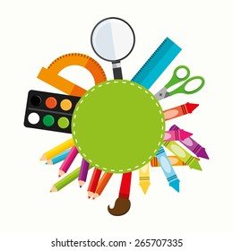 school supplies design, vector illustration eps10 graphic