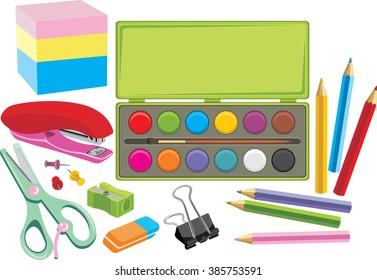 School supplies. Vector