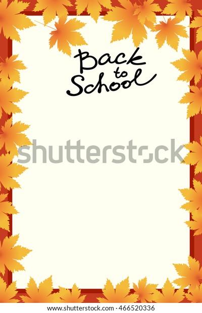 School Template Invitation Card Blank Vector Stock Vector (Royalty ...