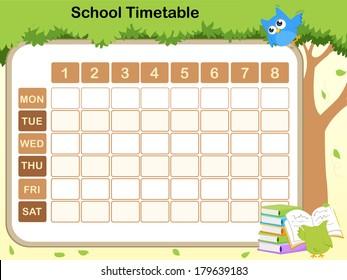 school timetable for preschool