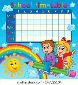School Timetable Images, Stock Photos & Vectors | Shutterstock