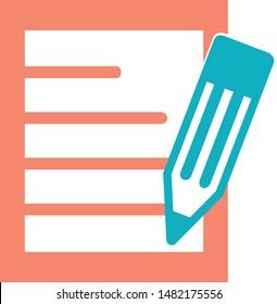 School transcript trendy icon on white background for web graphic