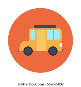 School Van Vector Flat Icons