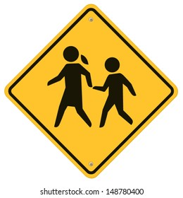School warning  sign.