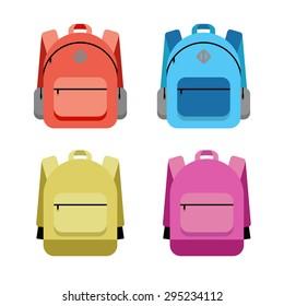 Schoolbag flat illustration