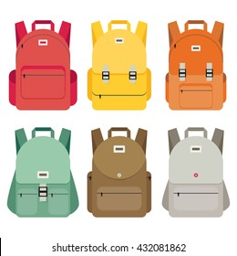 Schoolbag flat illustration. Bag for school.