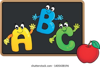 Schoolboard topic image 7 - eps10 vector illustration.