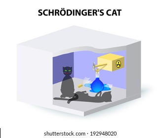Schrodinger's cat in a closed, booby-trapped could be simultaneously dead and alive. From here, the only way to know whether the cat is dead or alive is to open the box and look.