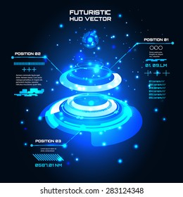 Sci fi Futuristic user interface, info graphics, HUD, technology vector background