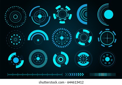 Sci fi futuristic user interface. Vector illustration