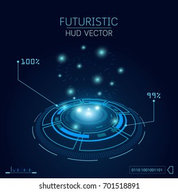Sci fi futuristic user interface, HUD, Technology , Vector illustration background.