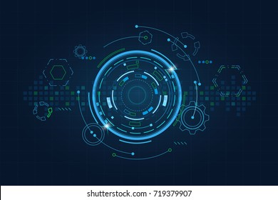 Sci fi futuristic user interface, HUD, Technology abstract background , Vector illustration.