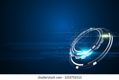 sci fi tech concept hi speed flare background eps 10 vector