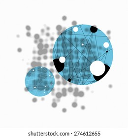 Science Abstract Background with Blurred Dots Composition