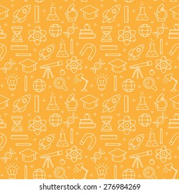Science abstract pattern, outline style