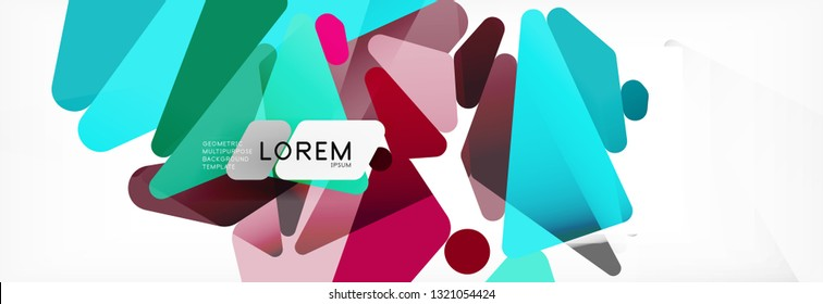Science background. Abstract triangle pattern. Vector abstract geometric template design
