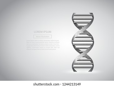 Science background with DNA molecules.