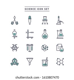 science and chemistry icon set