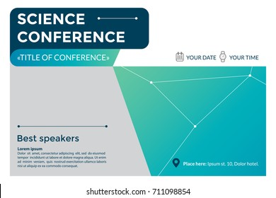 business conference invitation concept colorful simple stock vector