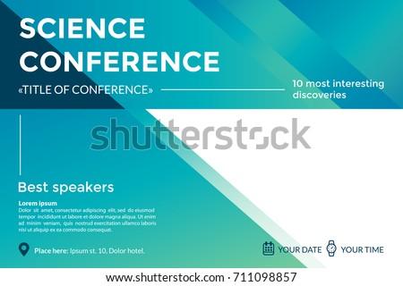 science conference invitation concept advertising scientific の