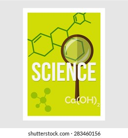Science cover. Template for magazine, flyer, brochure. Flat style.