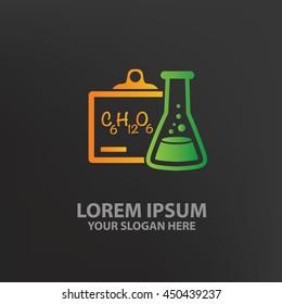 Science design,logo template,clean vector