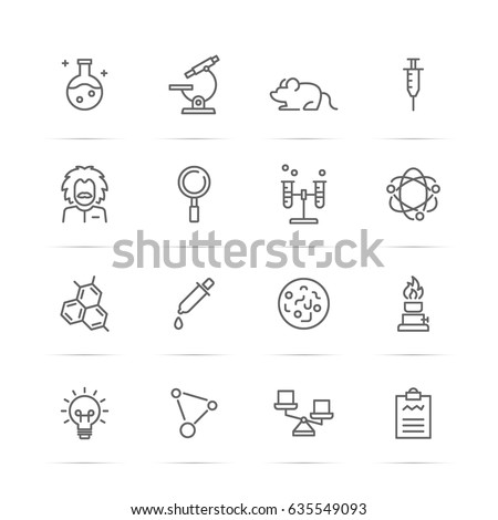 science experiments vector line