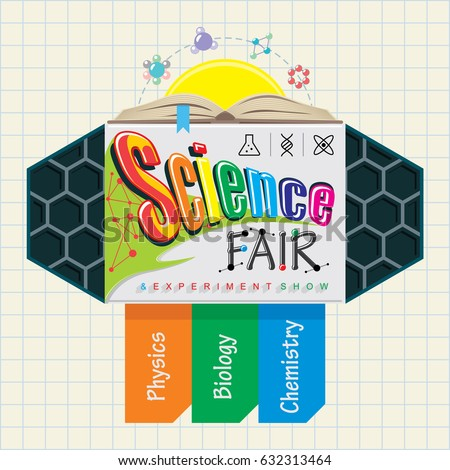 science fair emblem kids education show stock vector royalty free