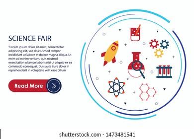 Science Fair poster concept  vector illustration