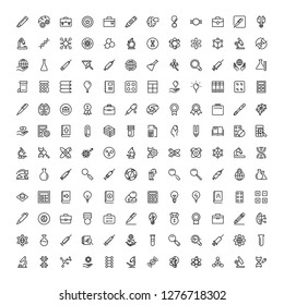 Science icon set. Collection of high quality black outline logo for web site design and mobile apps. Vector illustration on a white background.