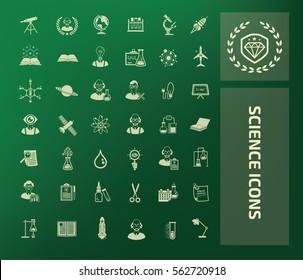 Science icon set,clean vector