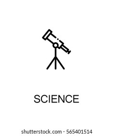 Science icon. Single high quality outline symbol for web design or mobile app. Thin line sign for design logo. Black outline pictogram on white background