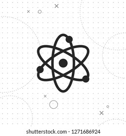 Science icon, vector best flat icon on texture background , EPS 10
