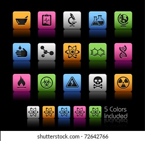 Science Icons // Color Box -------It includes 5 color versions for each icon in different layers ---------