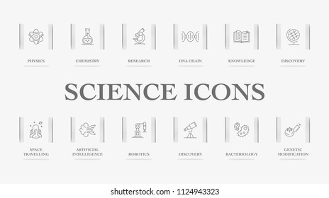 Science Icons Concept