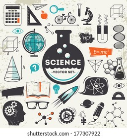 Science icons set - Shutterstock ID 177307922