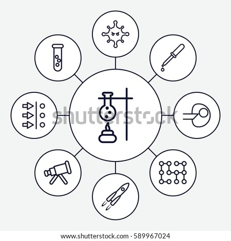 Science Icons Set Set 9 Science Stock Vector Royalty Free