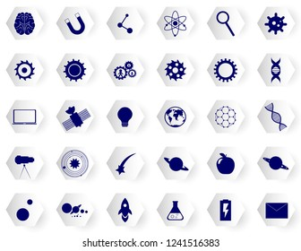 Science icons set. Tech icons collection vector design