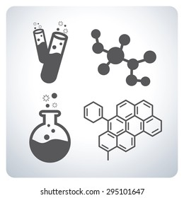 Science icons. Symbol design. Vector illustration.