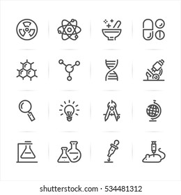 Science icons with White Background