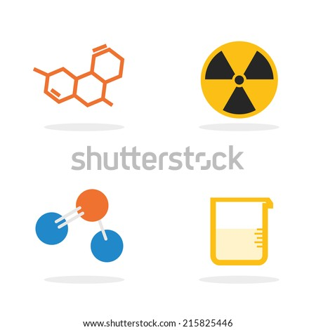 Science Lab Equipment Symbol Iconvector Design Stock Vector Royalty