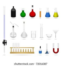 Science lab equipment tool chemical beaker cylinder laboratory pipette burette buret burner