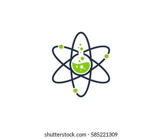 Science Lab Logo Design Element