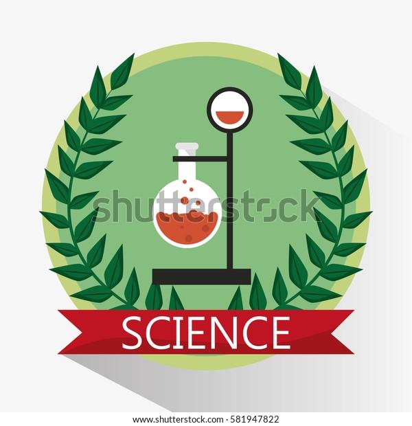 science laboratory beaker stamp