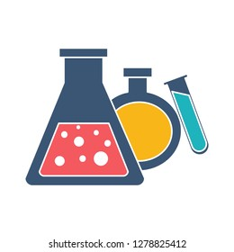 science laboratory icon-test tube Illustration-chemistry Symbol-chemical equipment Vector-experiment Isolated-medical Symbol-medicine Vector-biotechnology Isolated