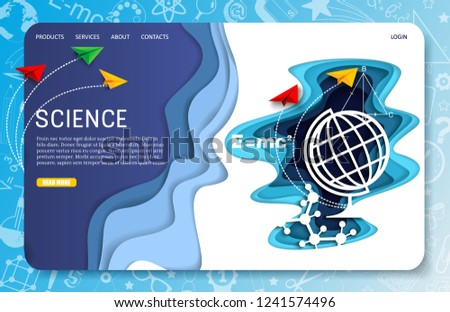 science landing page website template vector stock vector royalty