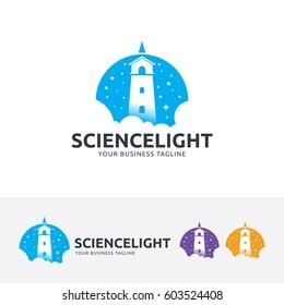 Science Light, Vector logo template