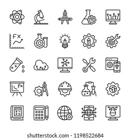Science Line Vector Icons