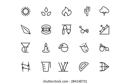 Science Line Vector Icons 7