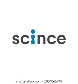 Science logo, abstract technology and laboratory symbol, artificial insemination medical clinic vector logotype. Molecular science icon.